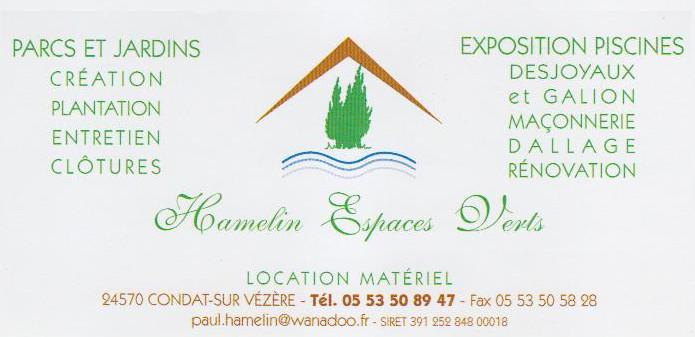 Carte de visite Société HAMELIN 001